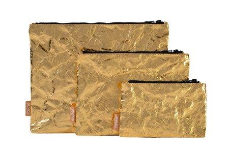 Etui / Kosmetyczka złota  S