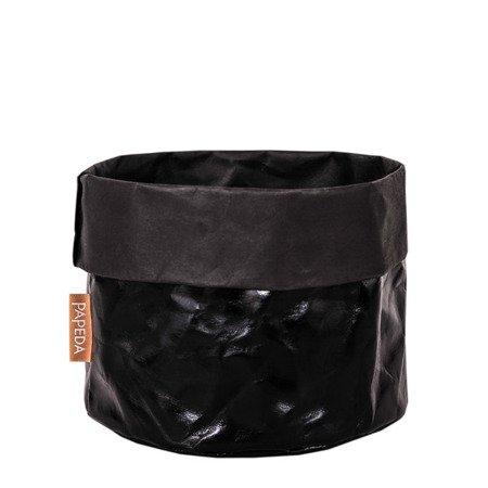 Osłonka na doniczkę kolor czarny 35 cm / 32 cm