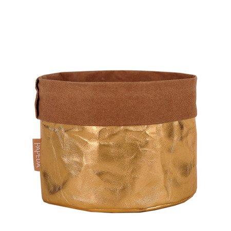 Osłonka na doniczkę kolor złoty  10 cm / 10 cm